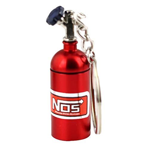 Orcbee  _Keychain NOS Mini Nitrous Oxide Bottle Keyring Stash Pill Box Storage 8 Colors (Red)