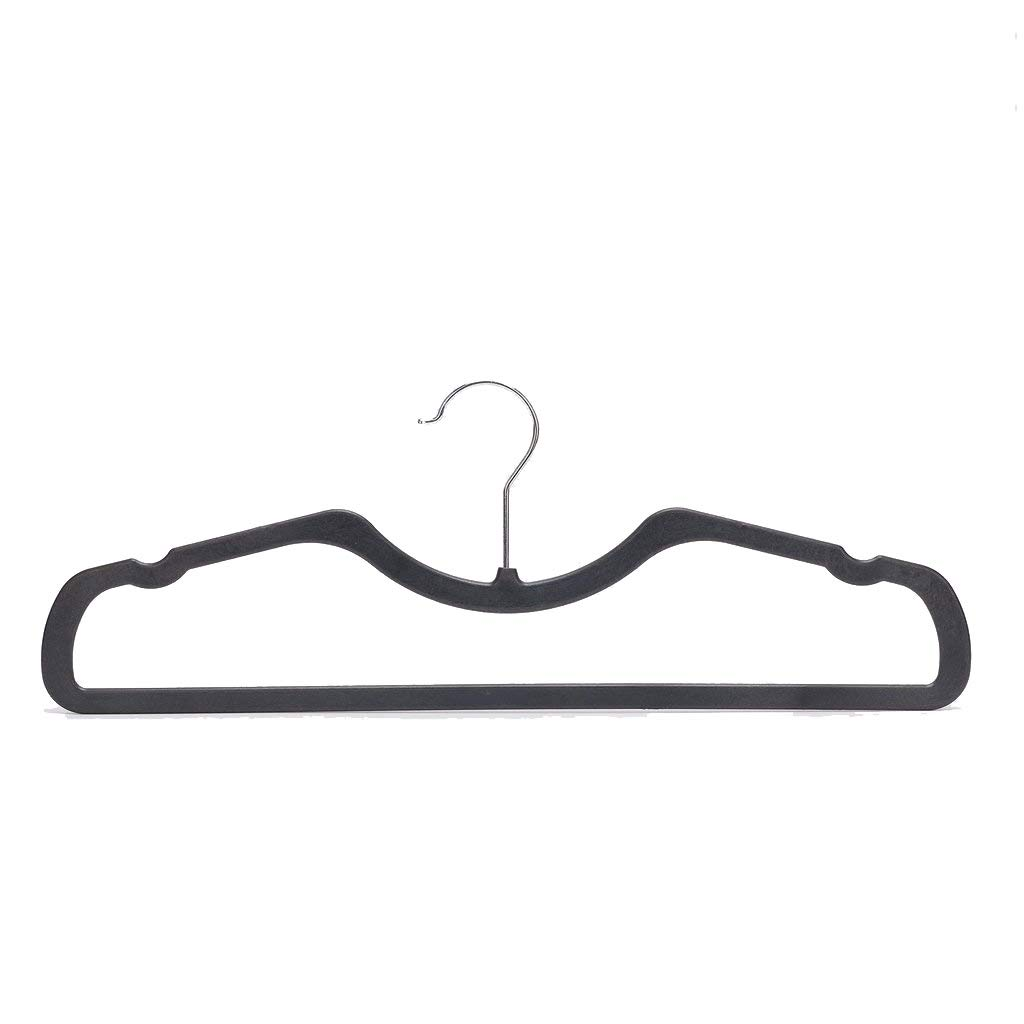 Higher Hangers Space Saving Clothes Hangers Slimline Heavy Duty Black Plastic 40-Pack by Higher Hangers (Image #1)