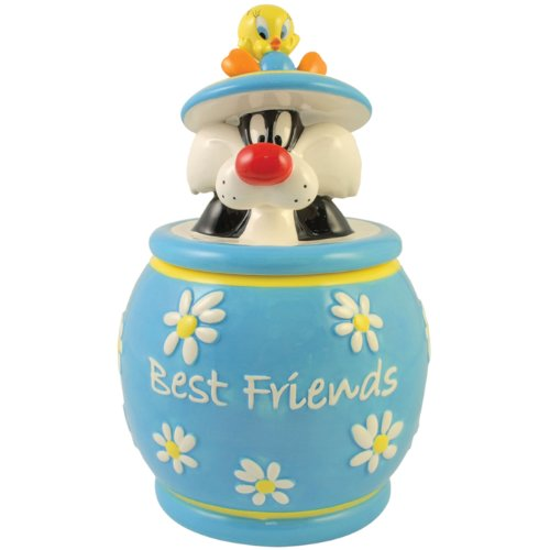 Westland Giftware Looney Tunes Tweety and Sylvester Best Friends Cookie Jar, 10-1/2-Inch