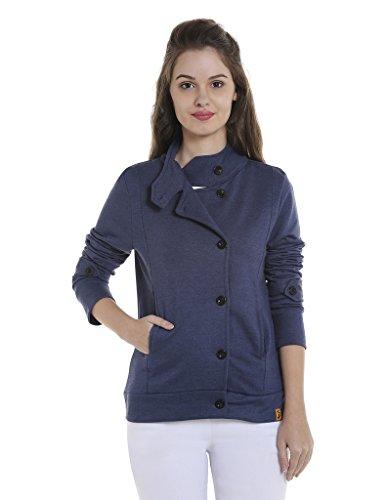 Campus Sutra Women Mandarin Collar with Button Closure Jacket