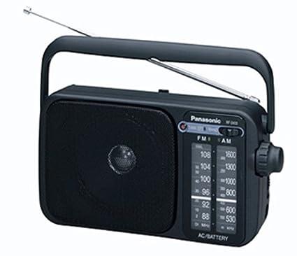 Panasonic 2400DEB-K Radio portátil Am/FM con Funcionamiento AC o DC. Negro