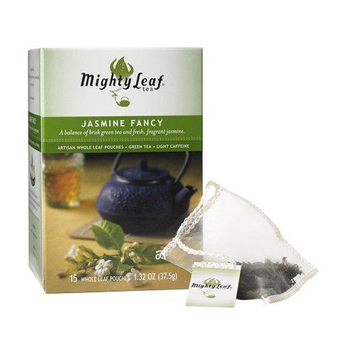 Mighty Leaf Tea – Green Tea – Jasmine Fancy -15ct Whole Leaf Pouches