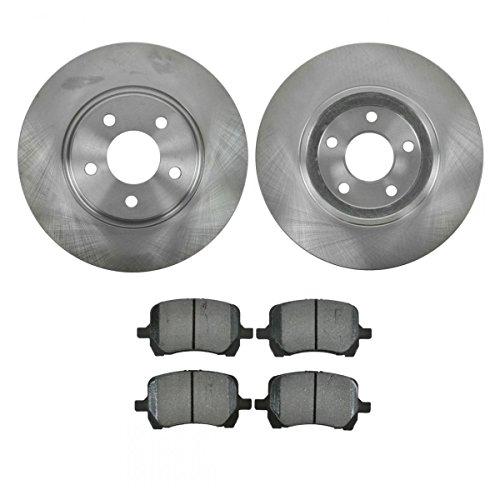 Front Semi Brake Pad Set (Front Brake Pad & Rotor Kit Set Premium Semi-Metallic for Chevy Pontiac)