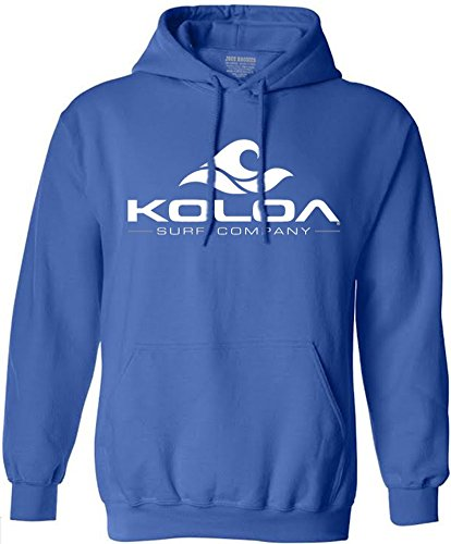(Koloa Surf Wave Logo Hoodies for Men - Hoody Sweatshirt, 5XL-Royal/w)