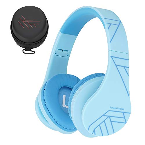 PowerLocus Kids Headphones Over-Ear, Bluetooth Wireless Headphones for Kids,with Microphone, Safe 85DB Volume Limited…