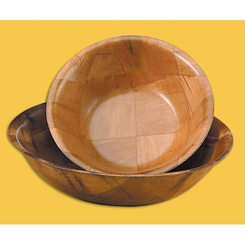 TableCraft 210 10'' Mahogany Round Woven Wood Bowl - Dozen