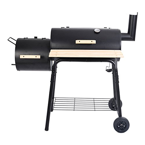 NUMBERNINE,Goplus Outdoor BBQ Grill Charcoal Barbecue Pit Patio Backyard Meat Cooker Smoker,BBQ Tools & Accessories