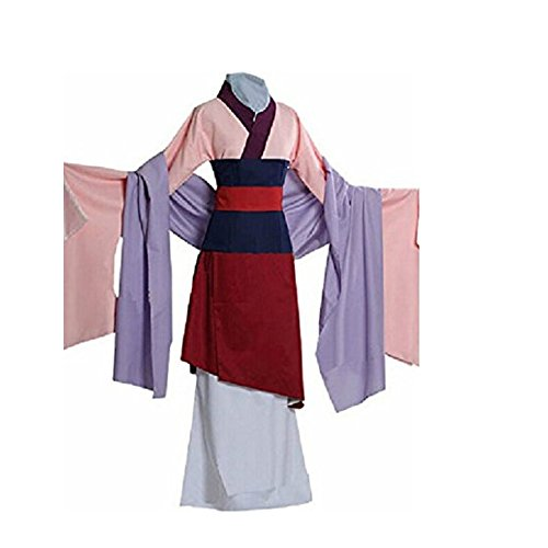 GDreamer ML3 Kids Teen Heroine Hua Mulan Dress Halloween Costume Cosplay Party S-XL (Mulan Costumes)