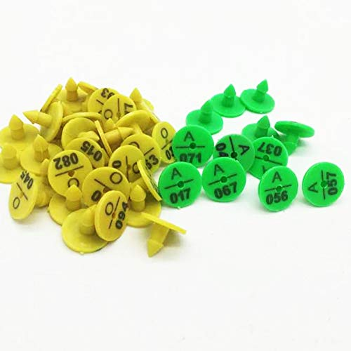 AZUDAN Carriers | 100pcs Rabbit Ear Tag Signs with The Word Ear Laser Typing Plastic Head Earrings Hamster Farm Animal Identification Card