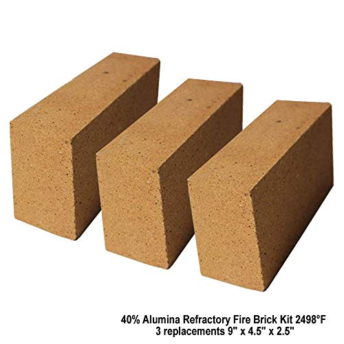 Simond Store 40% Alumina Refractory Fire Brick Kit 2498°F of 3 Replacements for stoves, fire pits and Pizza ovens 9