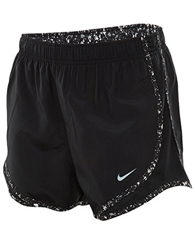 NIKE Womens Moisture Wicking Colorblock Shorts Black/Wolf Grey/Anthracite