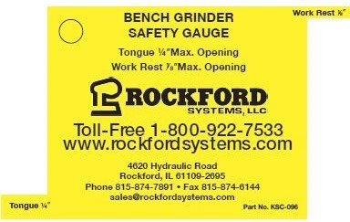 Bench Grinder Safety Gauge with Tether (1) by Rockford Systems, LLC (Image #1)