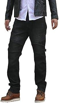 Waist 40 XXXL- Herren Halb-wasserdicht Motorradhose PU-Beschichtung Jean Motorrad Hose Motorradr/üstung Schutzauskleidung Motorcycle Biker Pants -Schwarz