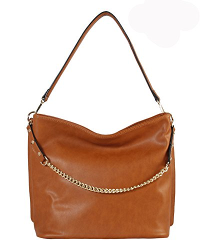 Chain Hobo Diophy Leather Decoration PU Bag Brown Strap PxnETRSOn