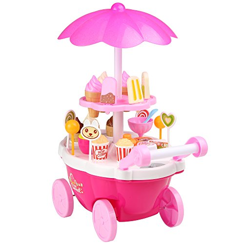 Toy Shop (Funmily Kids Music Lighting Ice Cream Candy Trolley Carts Set Pretend Play Shop Toy)