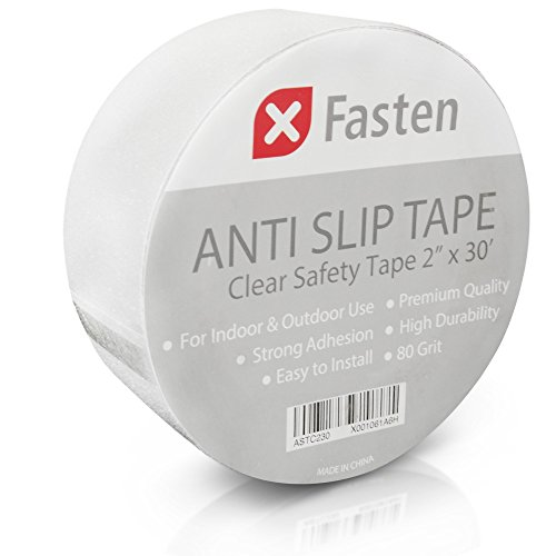 Anti Slip Tape - XFasten Anti Slip Tape Clear, 2-Inch by 30-Foot Safety Track Tape