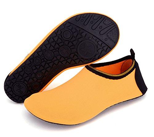 Giotto Barfot Vann Sko Yoga Strand Svømme Aqua Sko For Kvinner Menn G-orange