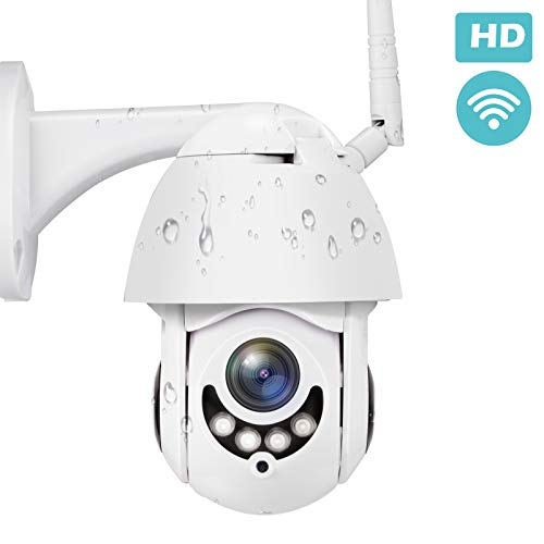 PTZ Outdoor Security Camera 2.4G WiFi with Motion Detection, TOWODE Waterproof Home Wireless Security Camera 1080P CCTV Surveillance Cameras IP IR-Lens JPEG Snapshot Function with US Plug Adapter