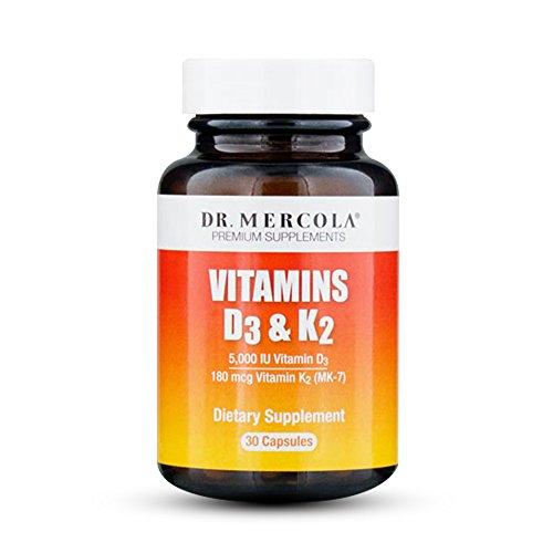 Dr. Mercola Vitamin D3 and K2 - 30 Capsules