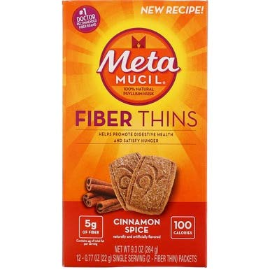 - Metamucil Natural Psyllium Fiber Wafers, Cinnamon Spice - 12 ct, Pack of 6