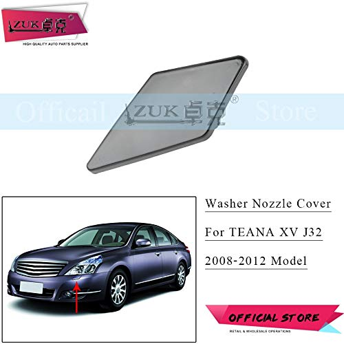 - Wipers Hukcus Headlight Head Lamp Spray Jet Cap Washer Nozzle Cover For Nissan TEANA XV Altima J32 2008 2009 2010 2011 2012 Base Color - (Color: Right Side)