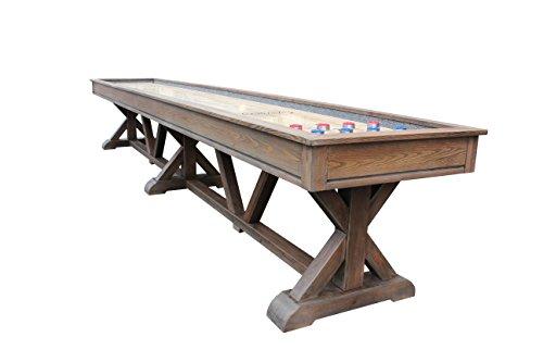 Playcraft Brazos River Weathered Barn 16' Pro-Style Shuffleboard ()