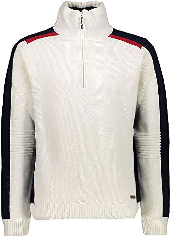 CMP Man Knitted sweter - męski sweter Windstopper styl norweski - 7H87804 A143 w rozmiarze 50: Odzież
