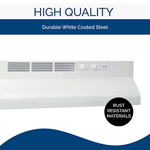 Image of Broan-NuTone 413001 Non-Ducted Ductless Range Hood with Lights Exhaust Fan for