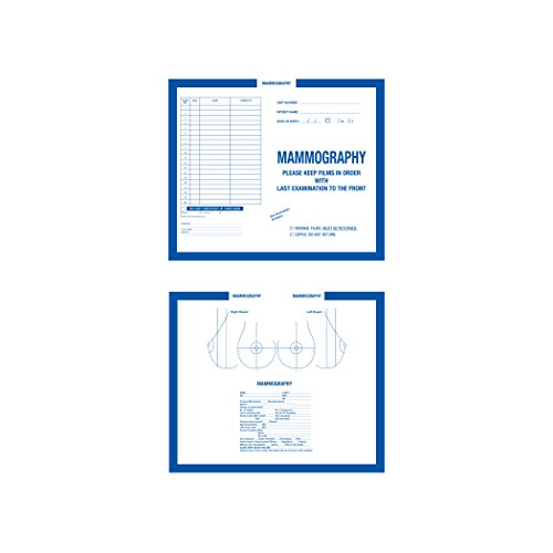 AMZfiling X-Ray Film Jackets- Mammography, Blue (250/Carton)