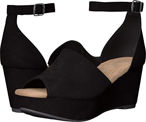 CL by Chinese Laundry Women's Dara Wedge Sandal, Black Suede, 8 M ()