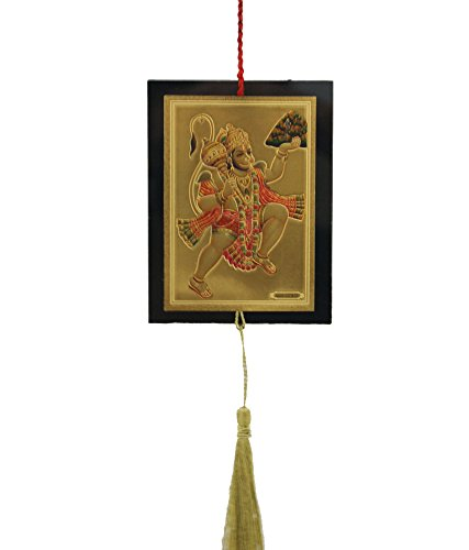 divya-mantra-car-wall-hanging-with-hanuman-others-multicolour