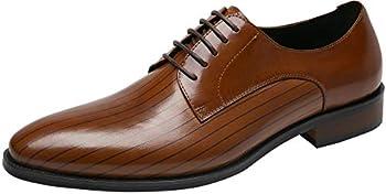Shenbo Men&#39s Oxford Leather Formal Dress Shoes (Multiple Color)