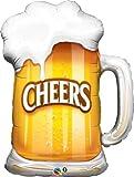 """35"""" Beer Mug Cheers Shape Foil Balloon - 5 Pack"""