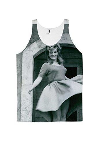 Scilla Gabel dancing. allover printed American Threads Tank