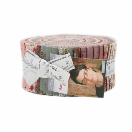 French General Jardin de Versailles Jelly Roll 40 2.5-inch Strips Moda Fabrics (French Collection Roll)