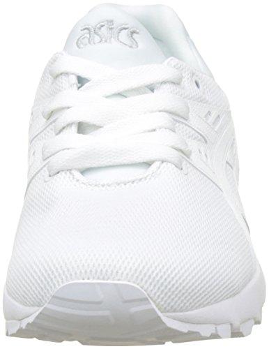 Asics Unisex-Kinder Gel-Kayano Trainer Evo GS Laufschuhe, Bianco Weiß (White/white 0101)