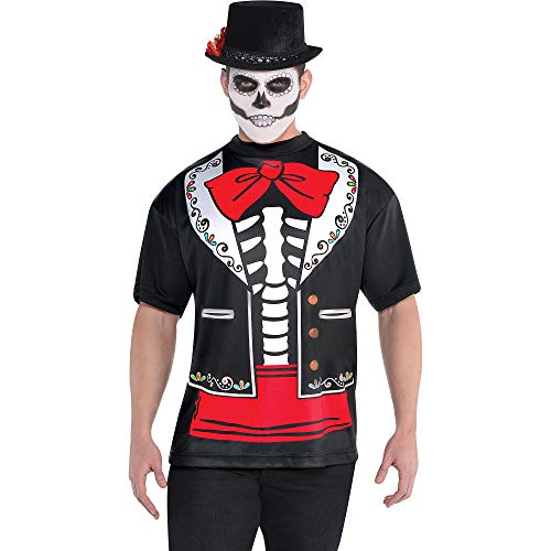 AMSCAN Day of the Dead T-shirt for Men, One Size]()