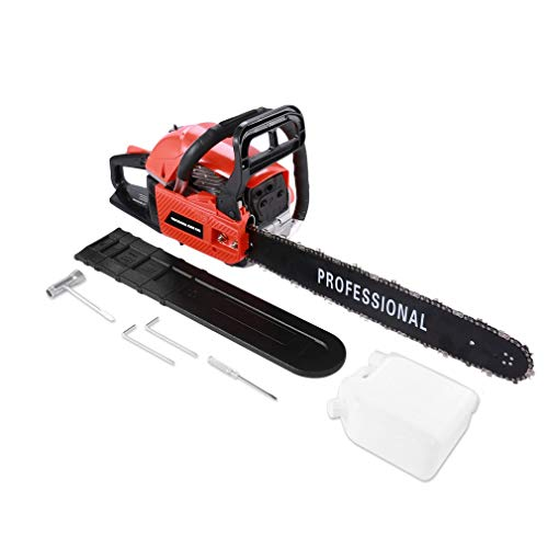Blackpoolfa Chain Saw, High Efficient 20 inch 45cc/52CC Gasoline Powered Chainsaw Cutter for Sawing Cutting – Single Cylinder Air Cooled 2-Stroke (Chain Saw – E)