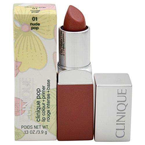 Clinique Women's Pop Lip Color + Primer Lipstick, 01 Nude, 0.13 Ounce