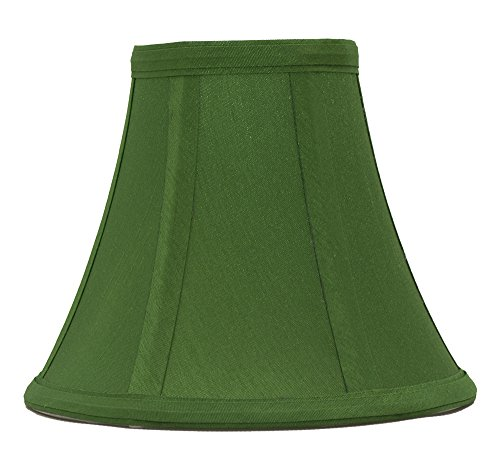 Urbanest Kelly Green Silk Bell Chandelier Lamp Shade, 3-inch by 6-inch by 5-inch, Clip-on