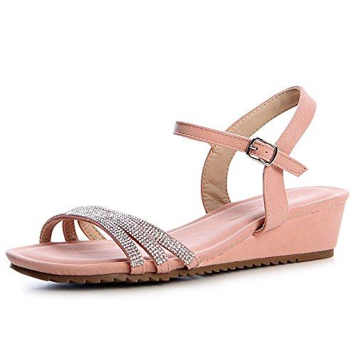 Sandales Femmes topschuhe24 Rose Sandalettes topschuhe24 Femmes Sandales Sandalettes xIxqz86Xw