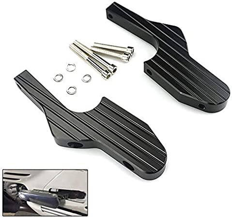 Cikuso Scooter Foot Rests Passenger Foot Pegs Extensions Universal Cnc Extended Footpegs For Vespa Gt Gts Gtv 60 125 200 250 300 300Ie Titanium