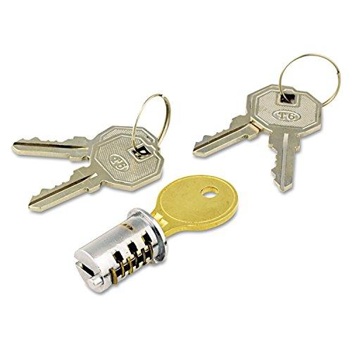 Alera ALEKC501111 Lock Core For Metal Pedestals, Chrome, Set by Alera