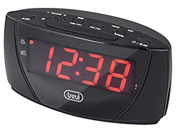 Trevi RC 845 B Reloj Negro - Radio (Reloj, Am,FM, Rojo, Negro, Digital, Corriente alterna): Amazon.es: Electrónica