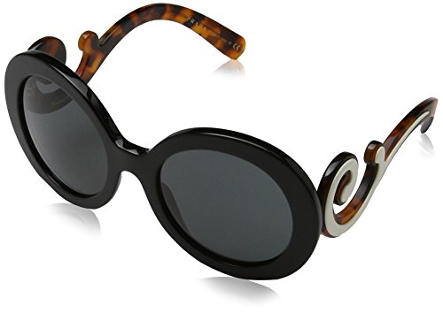 Prada Women's 0PR 08TS Black/Gray - Brand Name Sunglasses