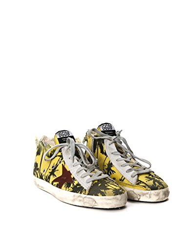GOLDEN GOOSE HOMME G30MS591A60 JAUNE COTON BASKETS