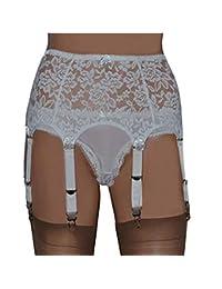 Diconna Women's Women's Sexy Lace High Waist 6 - Straps Garter Belt