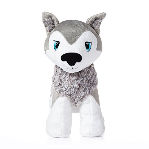 Santa Puppy (Portable North Pole Okidä Santa's Playful Husky Puppy Christmas Plush Toy with Personalized Video Message from Santa)
