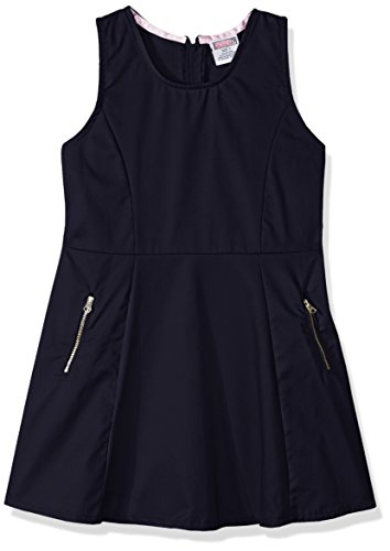Genuine Big Girls' Dress or Jumper (More Styles Available), Twill Navy-IHVCB, (Twill Jumper)