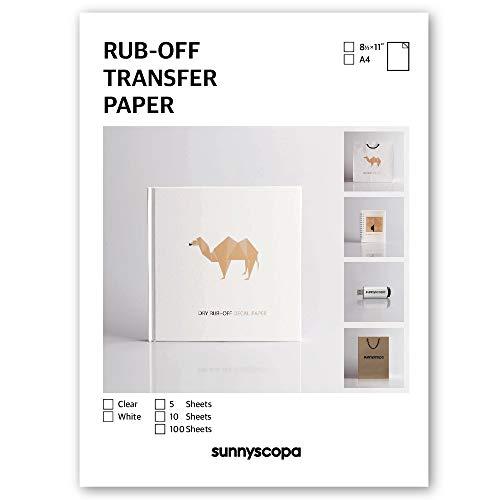Sunnyscopa Inkjet Dry Rub-off Transfer Paper Clear 11
